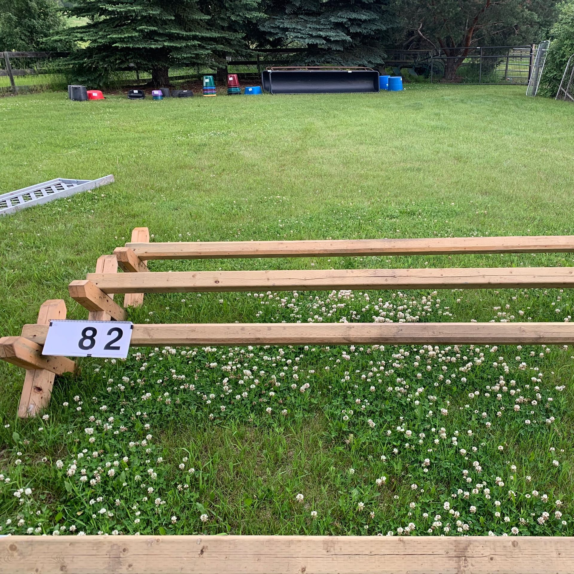 3 Cavalette Jumping Rails - Image 2 of 2