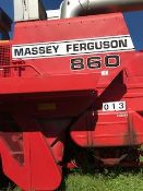 1985 Massy 860 Combine, V8 Perkins engine, Hydro