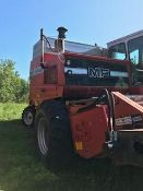 1985 Massey 860 Combine, V8 Perkins engine, Hydro,