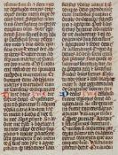 Marianus Scotus -Einzelblatt aus einer Abschrift der Chronik des Marianus Scotus. Wohl