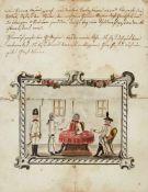 """Kartenspiel - """"Auslegung der Französischen Karten"""".Deutsche Handschrift auf Papier. Wohl Sachsen,"""