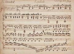 "Lang - Unbekannte Cembalosonate - ""Sonata I. Cembalo. Del Sigr J. G. Lang.""Musikmanuskript auf"