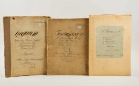 Schiedermayer -Kopistenabschriften von drei Kirchenmusikwerken von J. B. Schiedermayer für kleines