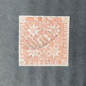 New Brunswick (Canada) QV 1851/60 3d red imperf, used (1)