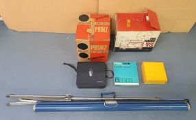 Complete vintage (1960s/70s) home video kit to include Chinon video camera & case, Prinz