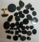 Collection (39 items) of polished Bloodstone & Bloodstone type stones, 39 stones in total, largest