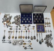 Large collection of white metal commemorative spoons, mostly Royal family related (Qty)