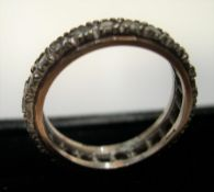 9ct white & rose gold & diamond eternity ring, Approx 3.5 grams gross, size L