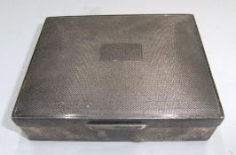 Vintage silver coated cigarette box, Gross weight 279 grams, measures 11 x 9 cm