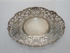 Antique silver bon-bon dish, 80 grams