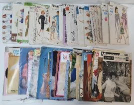 Large Quanity of vintage ladies sewing/knitting patterns include Vogue examples (Qty_