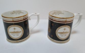 """Pair of Cunard QEII """"final farewell"""" commemorative mugs (2), Both in fine condition without issues"""