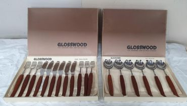 """Two small boxes of 1970s """"Glosswood"""" fine tableware (2), Both boxes are complete"""