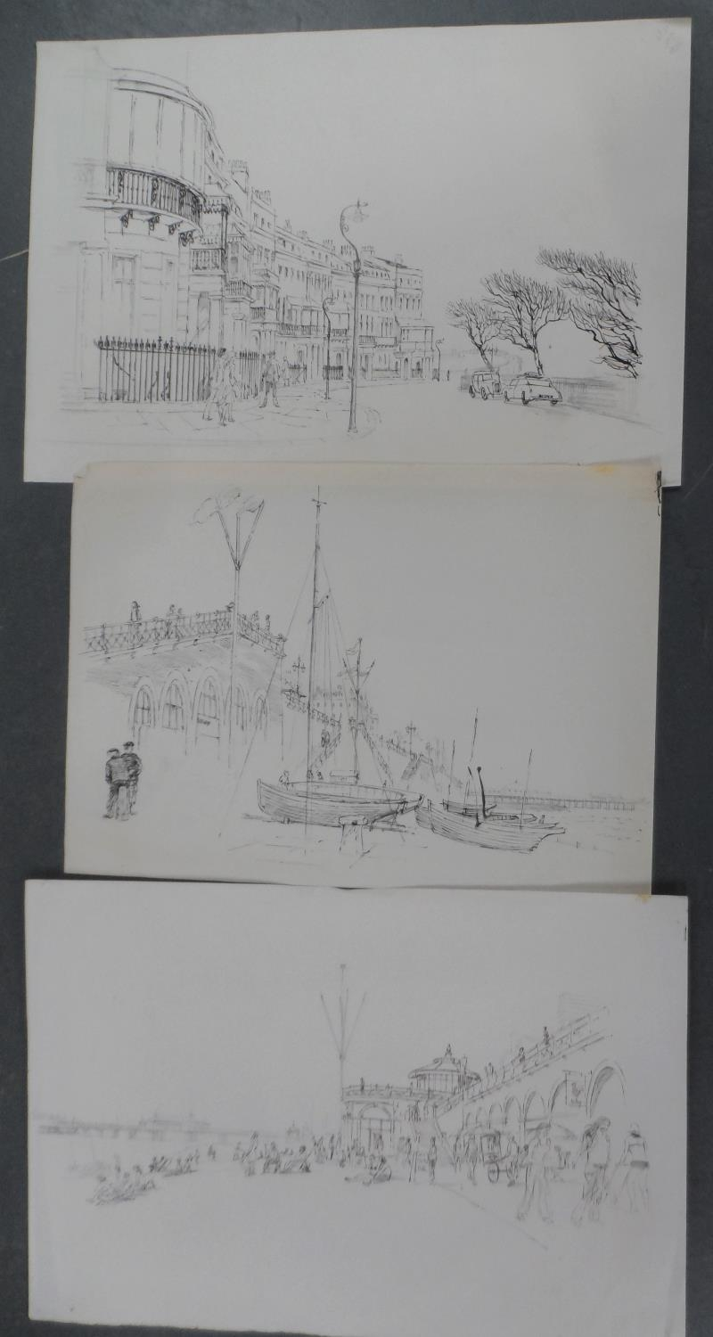 Harry TOOTHILL (Brighton 1917-2001), huge quantity of unframed pencil, ink & watercolours (Qty) - Image 6 of 7