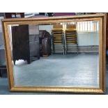Stunning large gilt framed mirror with bevelled edge glass (1) 128 x 98cm
