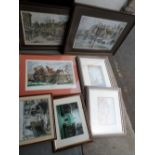 Collection of 3 pencil signed limited edition prints together with 4 other prints, all framed (7)