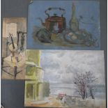 Harry TOOTHILL (Brighton 1917-2001), 3 unframed oil sketches (3)
