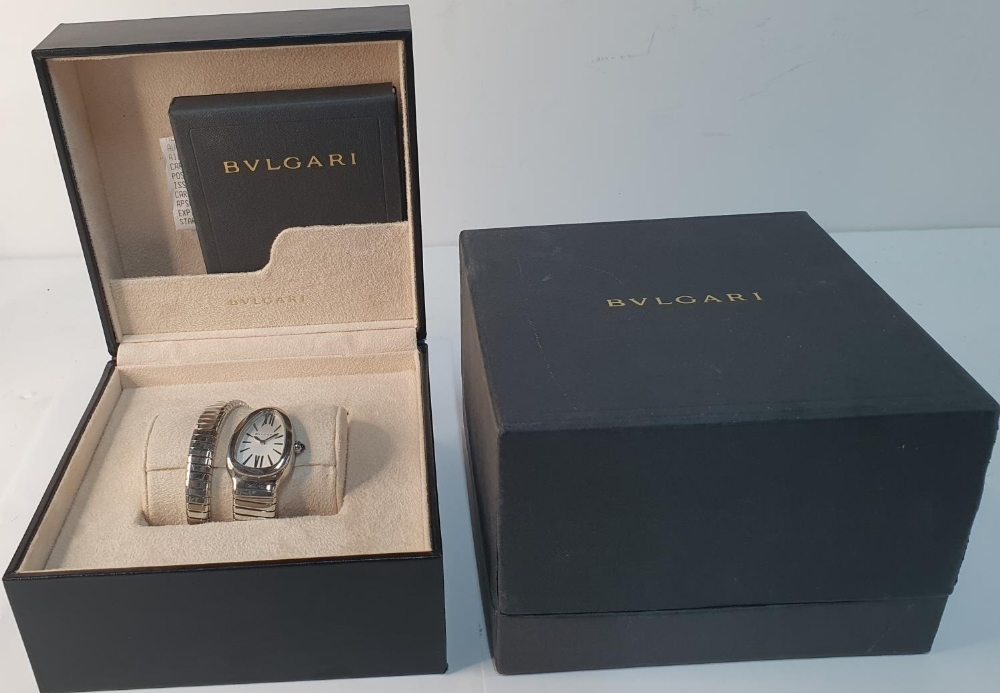 Ladies BULGARI SERPENTI TUBOGAS WATCH, purchased in 2011, complete with box & papers & original - Image 4 of 6