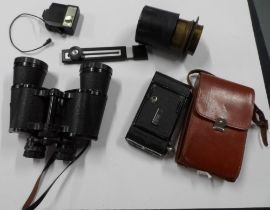 Good quality Glider, 10 x 50 field binoculars in good quality case together with other items