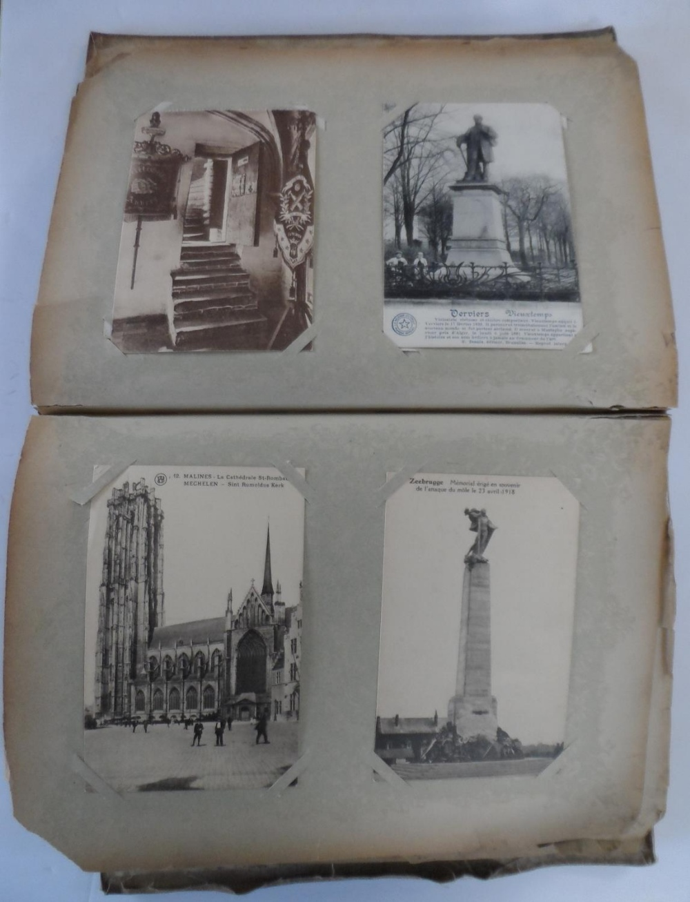 Superb 1920/30s album of mainly Belgium landscapes (Ostend, Bruges, Waterloo, Antwerp etc) & a few - Image 2 of 7