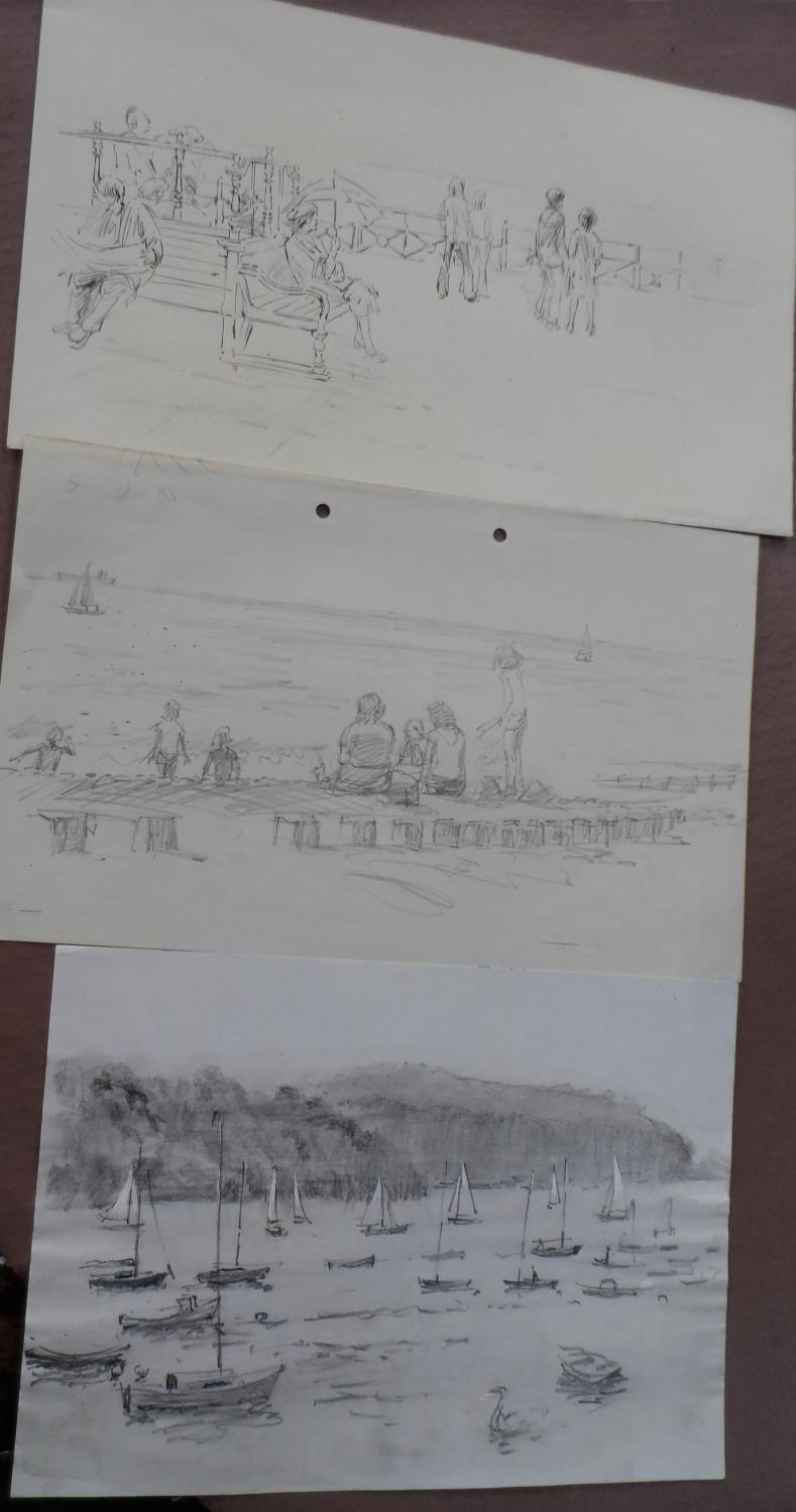 Harry TOOTHILL (Brighton 1917-2001), huge quantity of unframed pencil, ink & watercolours (Qty) - Image 2 of 7