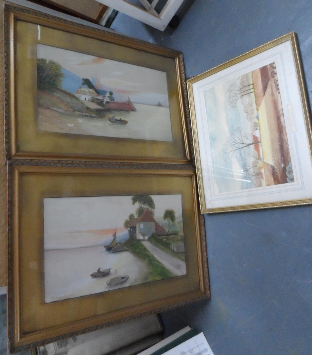 T Butterworth, pair of large Edwardian watercolours in matching original frames, together with