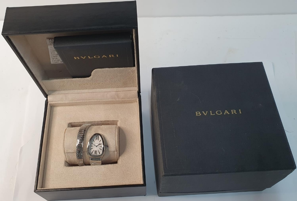 Ladies BULGARI SERPENTI TUBOGAS WATCH, purchased in 2011, complete with box & papers & original