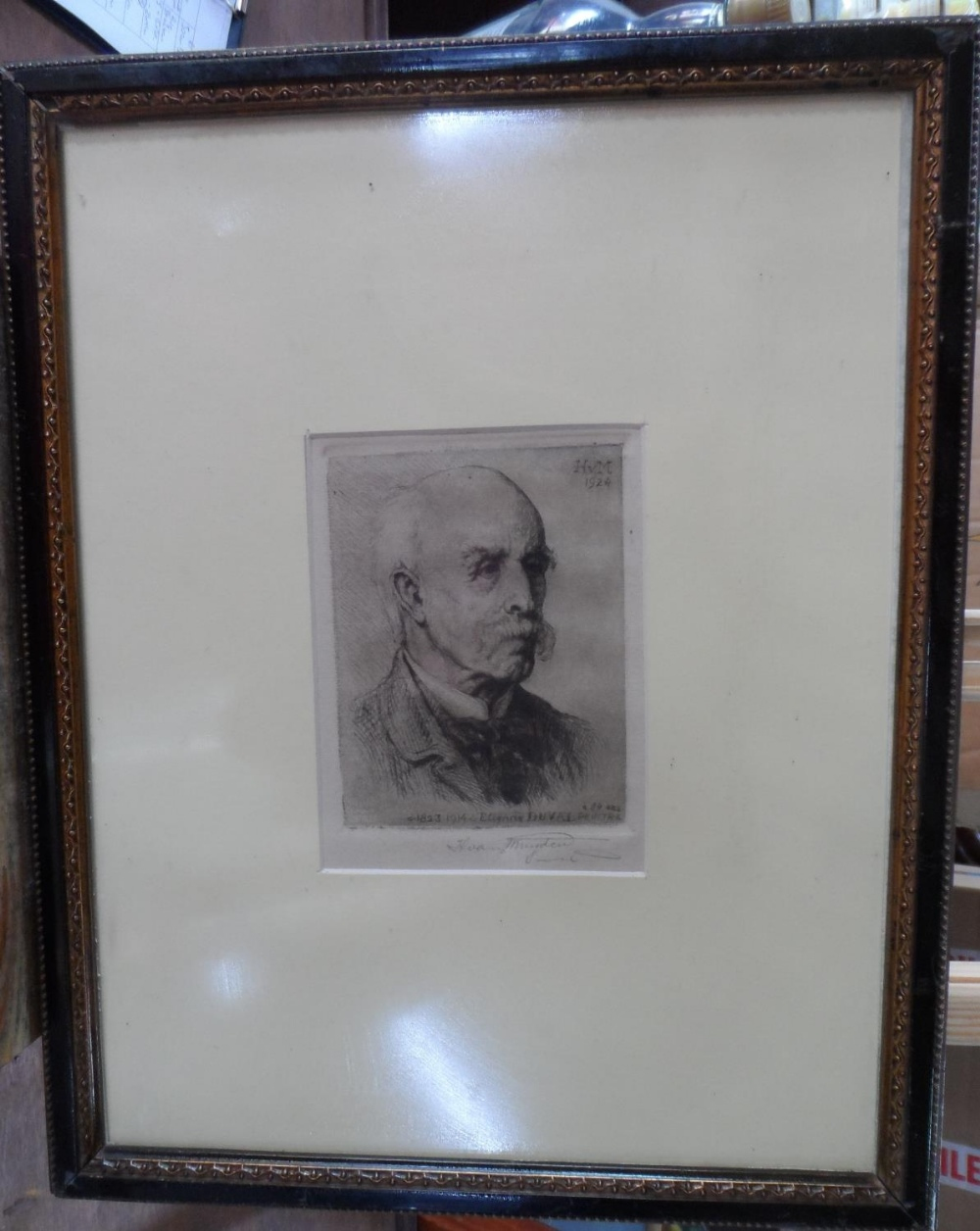 """Henri VAN MUYDEN (1860-1936) 1924 pencil signed etching """"Portrait of the French artist, Etienne - Image 2 of 4"""