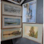 Collection of five good quality framed prints (5)