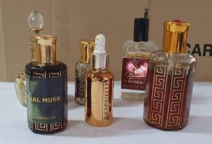 Collection of mainly middle-eastern perfume bottles and oils (6)