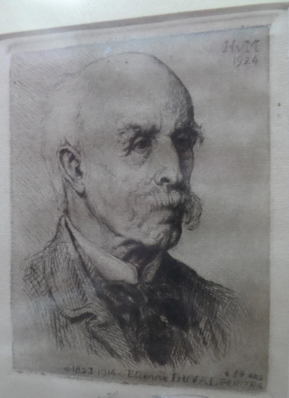 """Henri VAN MUYDEN (1860-1936) 1924 pencil signed etching """"Portrait of the French artist, Etienne - Image 3 of 4"""