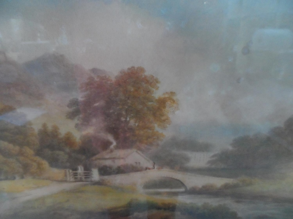 """Francis NICHOLSON (1753-1844) 1803 watercolour """"View of Rydal Hall from across the water"""", signed"""