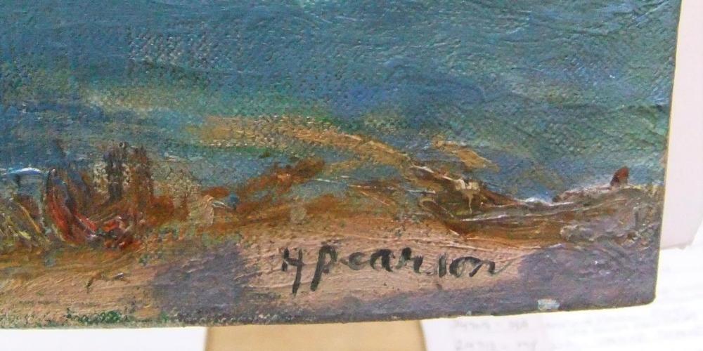 "Harry John Pearson (1872-1933) oil on canvas, ""Continental river scene"", unframed 64 x 77cm - Image 3 of 4"