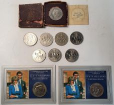 1951 Festival of Britain commemorative coin in case (case a/f) together with a small collection of