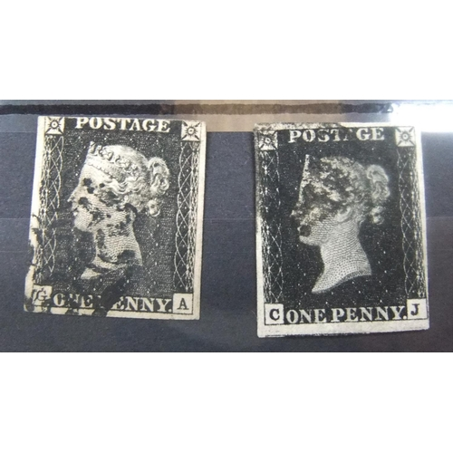 2 used penny blacks, Pl 6 & 16, 3 and 4 margin examples - Image 3 of 3