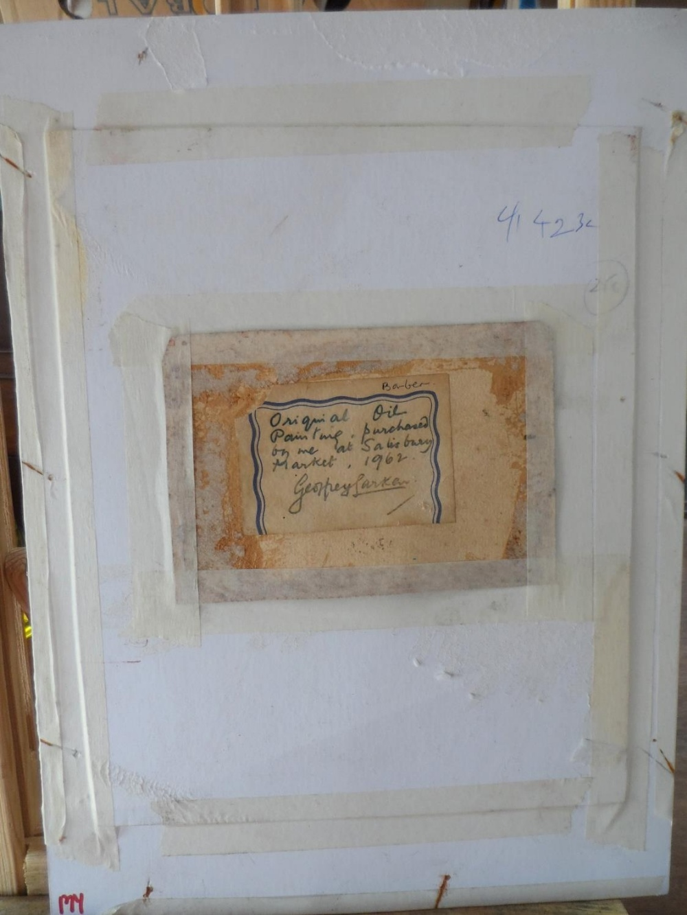 """Unsigned small Victorian oil on paper, """"Feeding the rabbit"""", mounted but unframed, The oil - Image 6 of 7"""