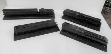 """Four models of steam trains made from British coal, including the Battle of Britain, the """"Mallard"""""""