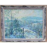 "Alasdair Urquhart (born 1956) Impressionist, Oil on Canvas ""Sheep grazing in Landscape"", signed,"