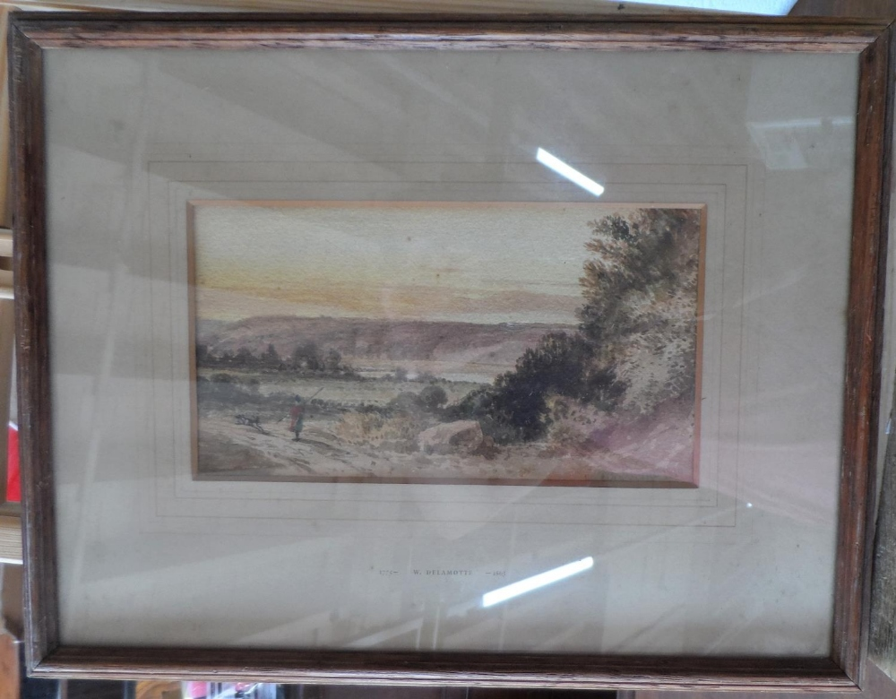 """Circle of William Alfred DELAMOTTE (1775-1863) 1818 watercolour """"Figure in Scottish highland - Image 2 of 4"""