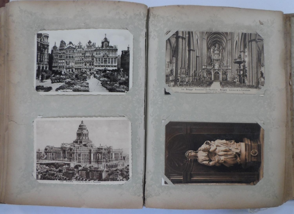 Superb 1920/30s album of mainly Belgium landscapes (Ostend, Bruges, Waterloo, Antwerp etc) & a few - Image 4 of 7