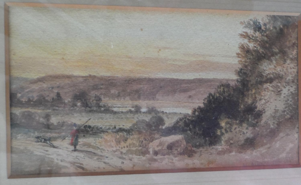 "Circle of William Alfred DELAMOTTE (1775-1863) 1818 watercolour ""Figure in Scottish highland"