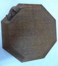 Mid 20thC Mouseman tea-pot stand, 20 x 20 cm