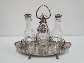 Fine quality antique E.P.N.S condiment set