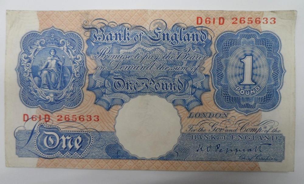 1941 £1 Peppiatt blue