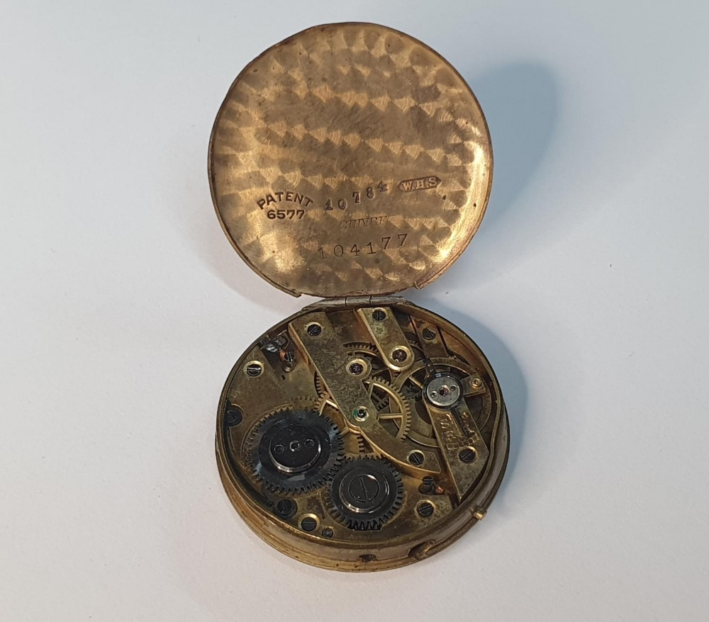 Old pocket watch workings, no case - Image 3 of 5