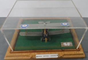 Cased model of a WW1 RAF bi-plane