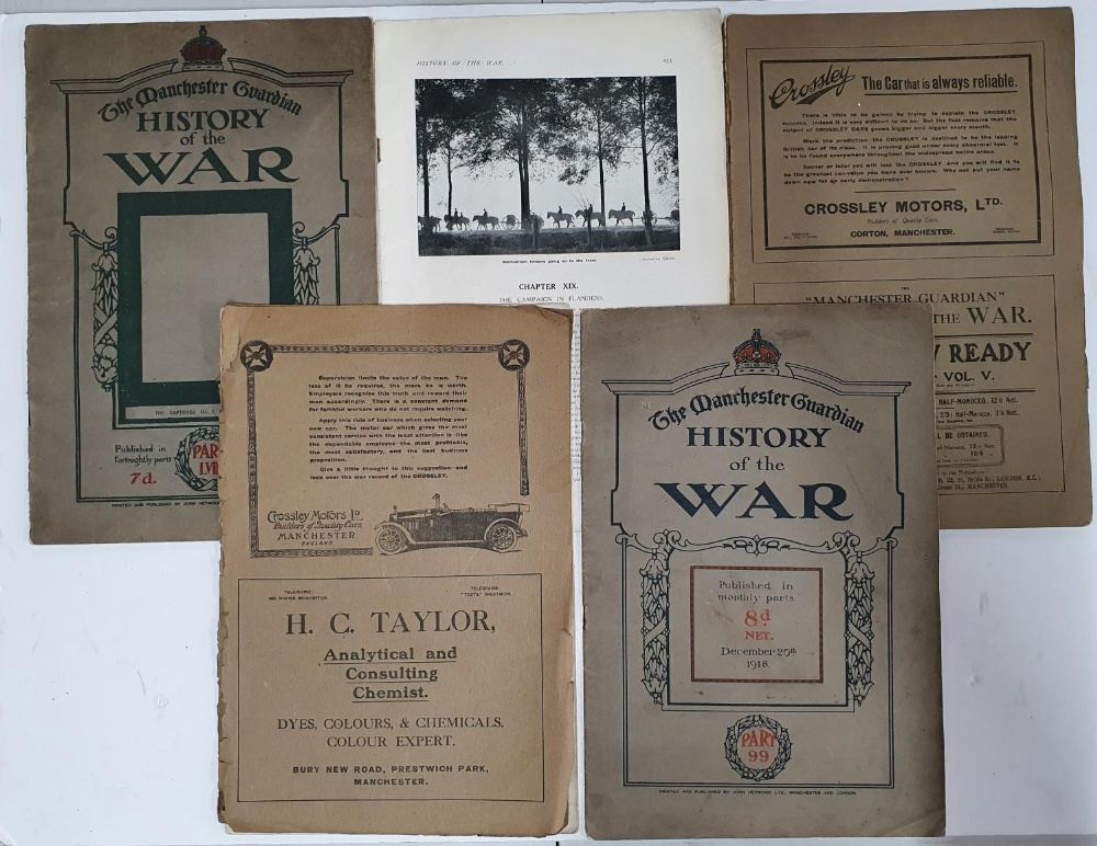"""Five, 1918 volumes of the Manchester Guardian """"History of the War"""" (5)"""