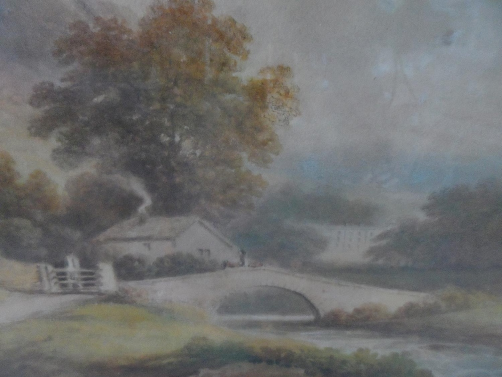 """Francis NICHOLSON (1753-1844) 1803 watercolour """"View of Rydal Hall from across the water"""", signed - Image 4 of 7"""