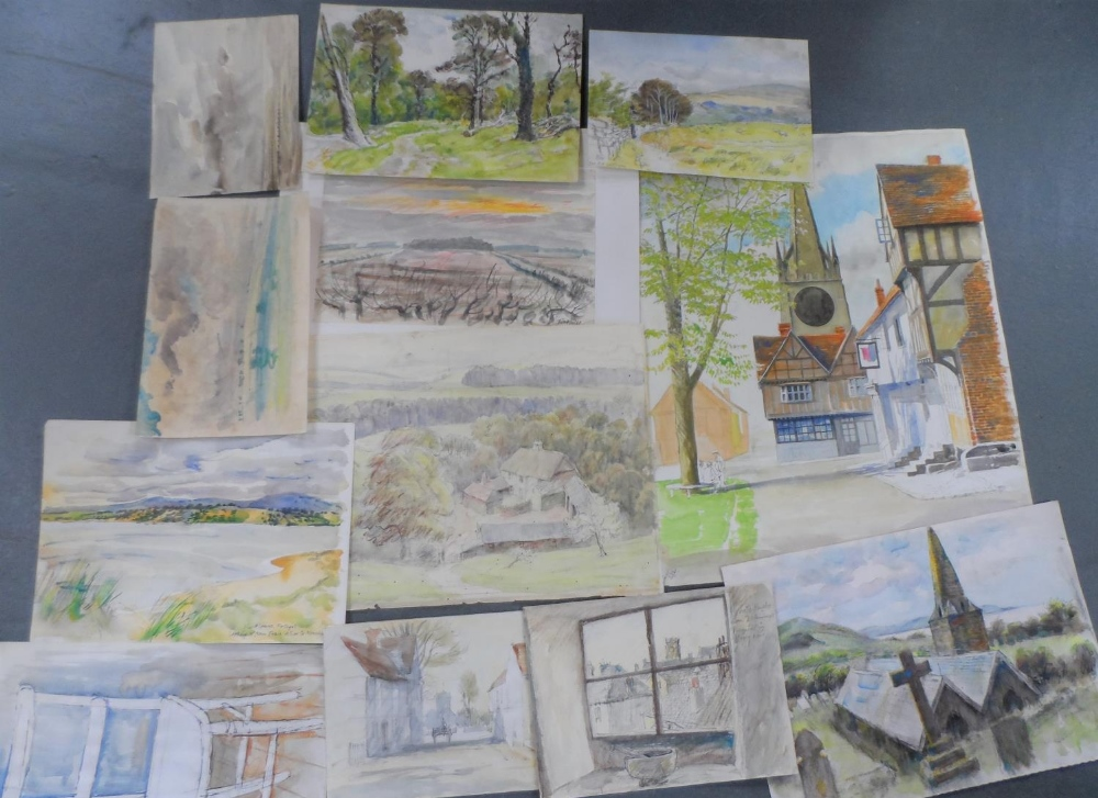 Harry TOOTHILL (1917-2001), collection of 12 good quality unframed watercolours (12)