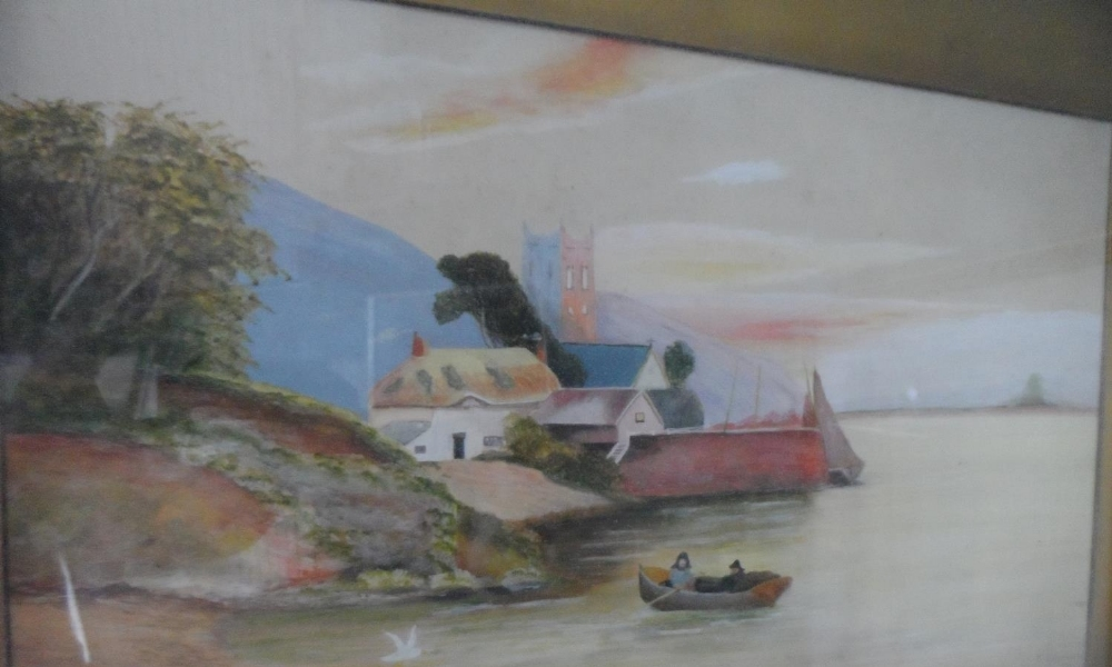 T Butterworth, pair of large Edwardian watercolours in matching original frames, together with - Image 3 of 4